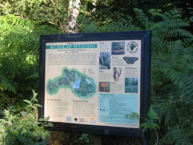 Sign Board in Copse Woods Ruislip