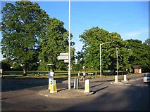 TQ0590 : Mini Roundabout at Harefield by Jack Hill