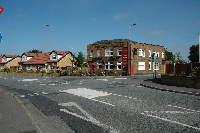 Junction with Robins Lane and Baxters Lane, St.Helens