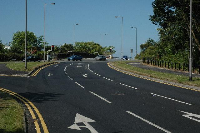Junction at Peasley Cross
