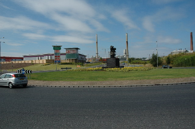 Roundabout on A570, St.Helens