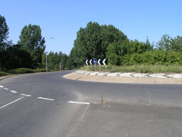 A roundabout on the A26