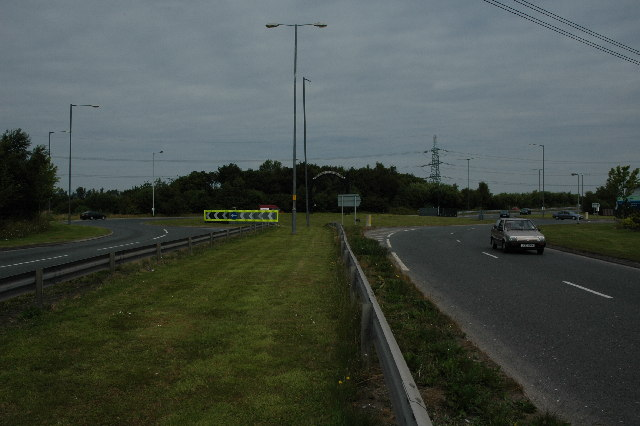 Roundabout on the A570 St. Helens Linkway
