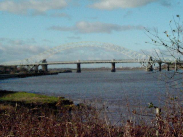 Wigg Island/Runcorn Bridge