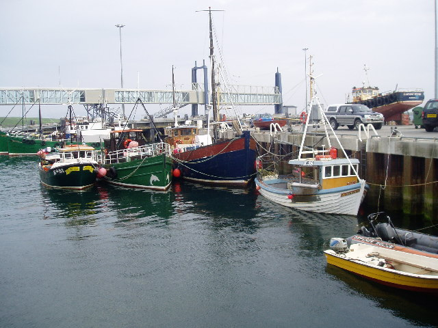 Boats at Stromness Pier