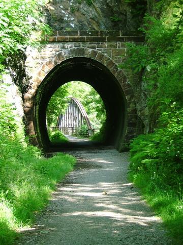 Tunnel Along the Keswick Railway Cyclepath