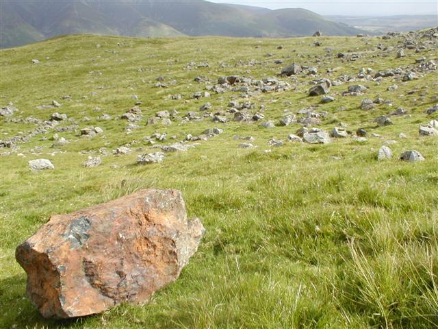 Boulder Field Threlkeld Knotts below Clough Head