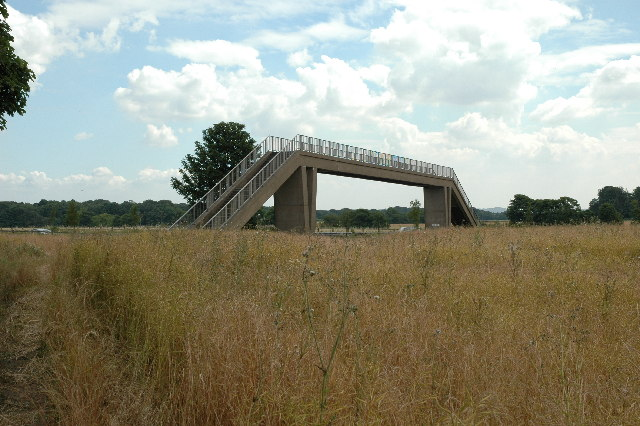 Footbridge over M62, near St.Helens