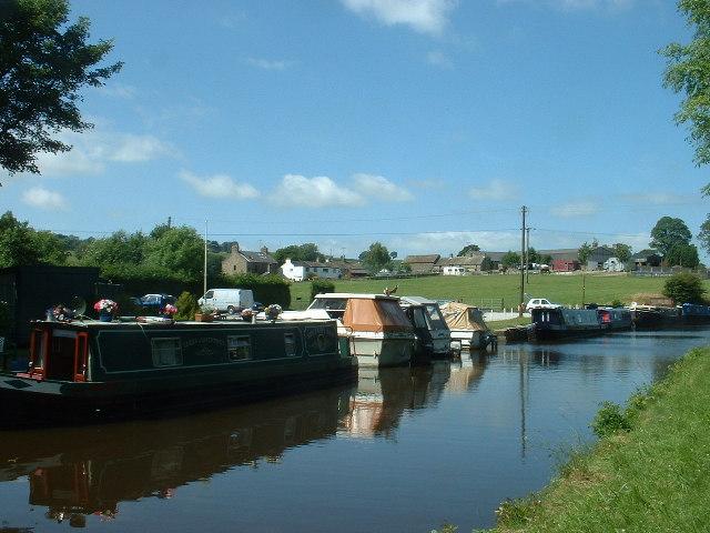 Canal basin near Salterforth