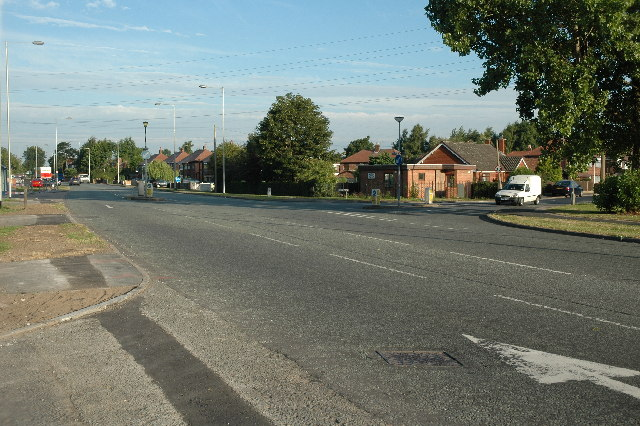 Junction along Manchester Road, Woolston