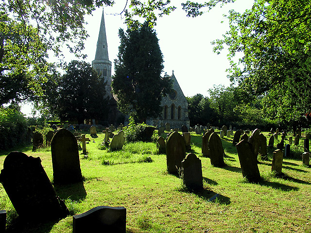 St Stephen's and the graveyard, near Baughurst