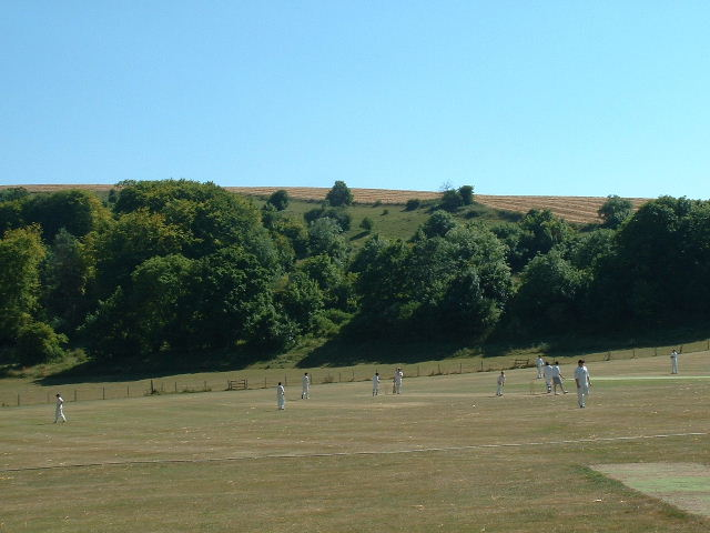 Findon Cricket Pitch and Church Hill