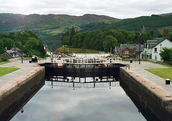 Locks on the Caledonian Canal: Fort Augustus