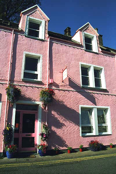 Colourful Portree Harbour Building
