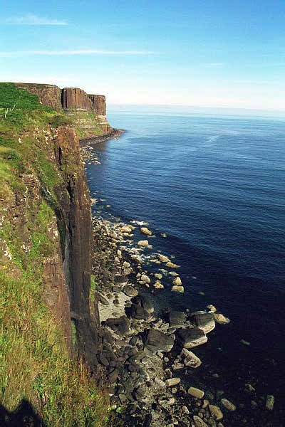 Sheer Cliff face along Skye Coastline