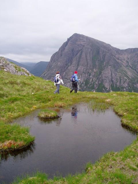 Pool on the west ridge of Beinn a' Chrulaiste