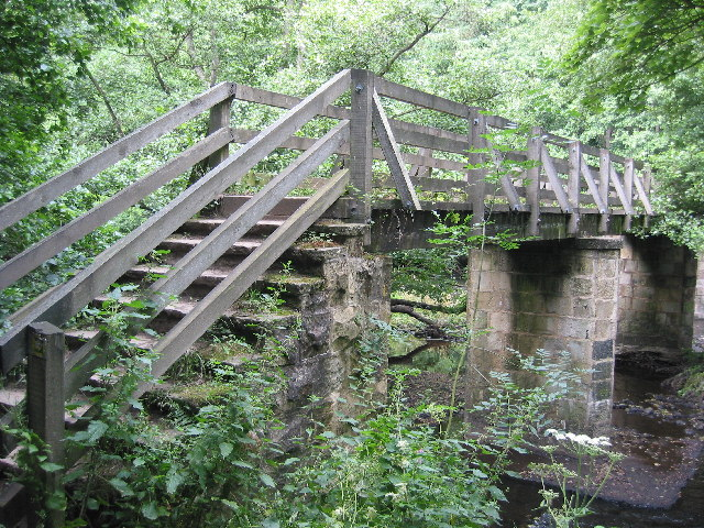 Footbridge over the river Nidd