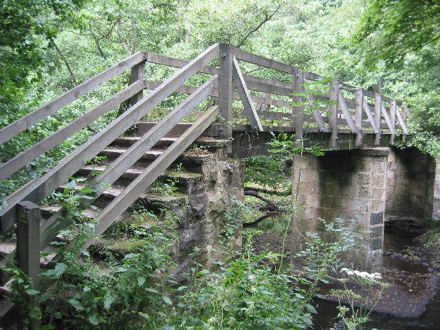 Footbridge over the river Nidd