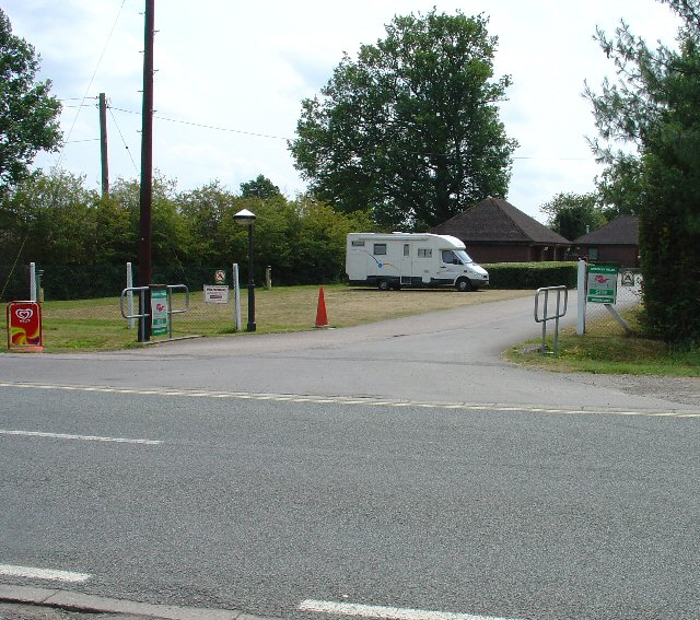 Entrance to Amberley Fields Caravan Site, Next to Flight Tavern, Charlwood Road, Near Crawley, West Sussex