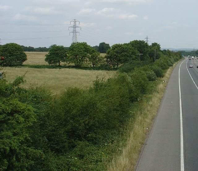 Pylons next to the M23 between Junction 9 and 10.