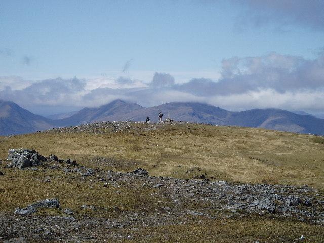 The summit of Beinn a' Chleibh