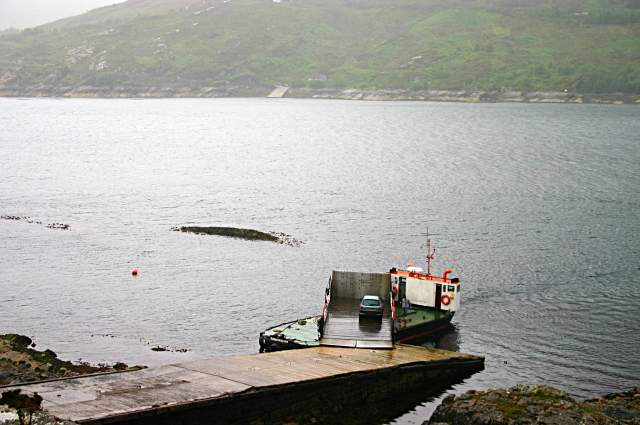 Kylerhea ferry loading up at the jetty