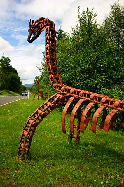 Roadside sculpture at Ardchyle