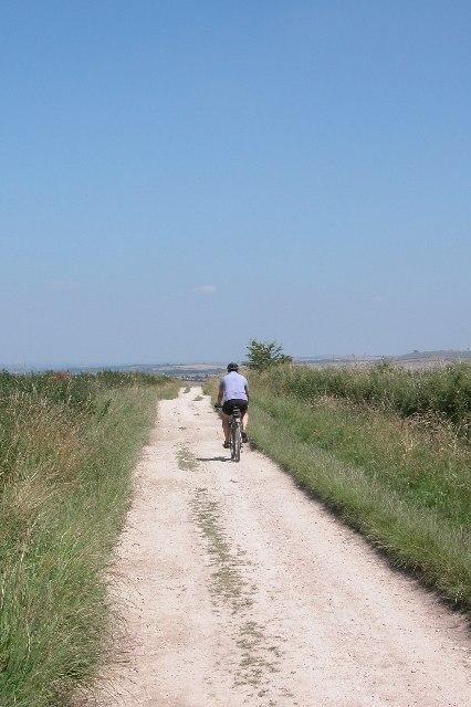 looking East along the Ridgeway path