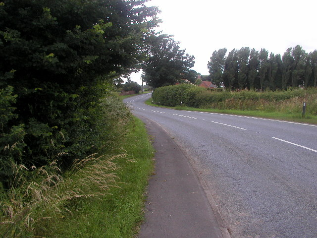 The view looking towards Winestead Corner