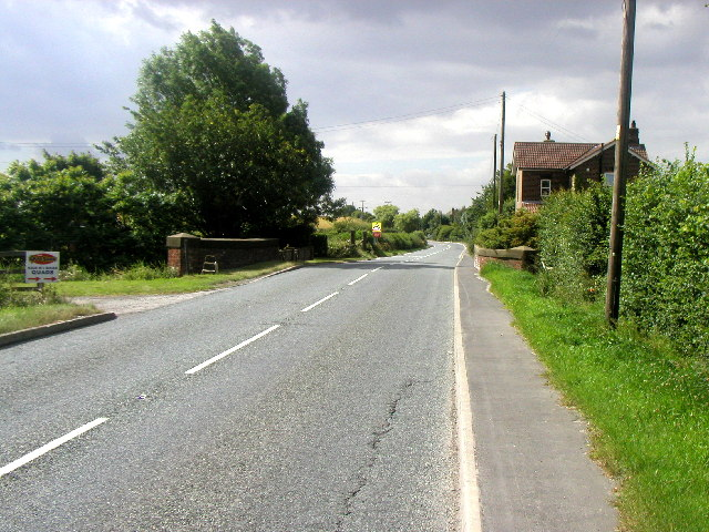The A1033 at  Winestead Bridge