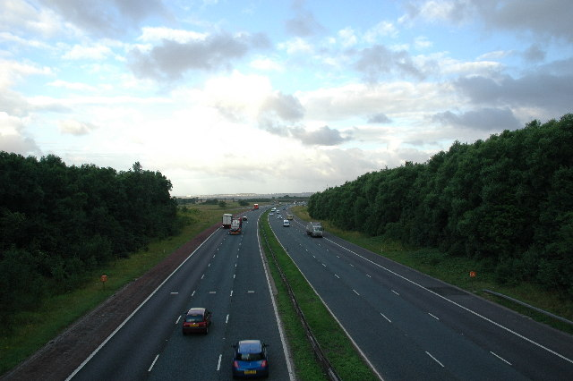 M62 from Junction 7, Rainhill
