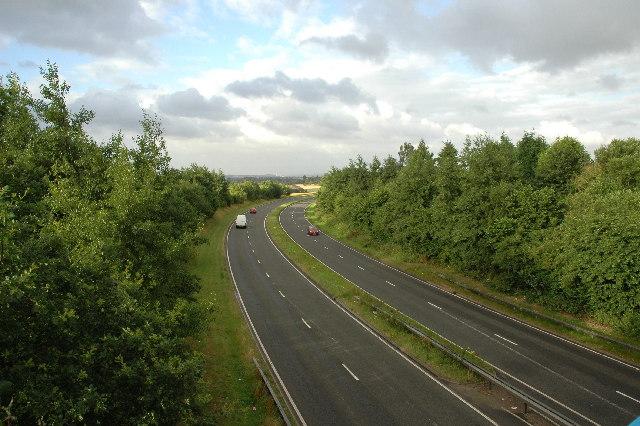 A49 spur, Winwick