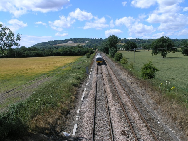 View of Railway off Bridge, near Reigate