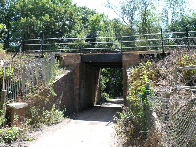Railway Bridge over narrow country lane