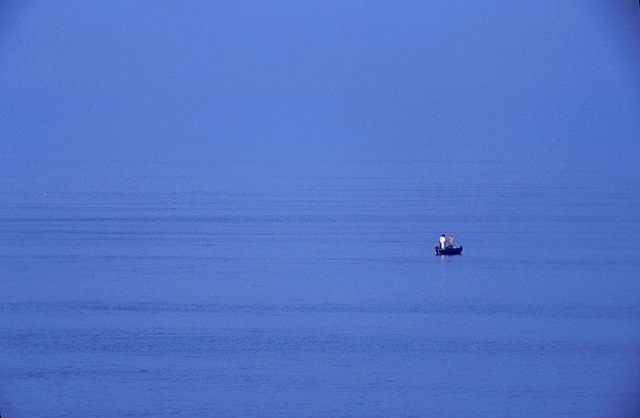 Fishing in Chesil Cove