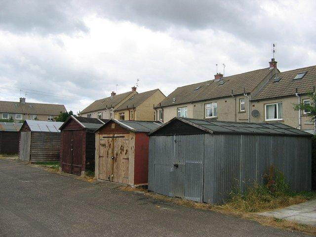 Houses and garages, Bonnyrigg.