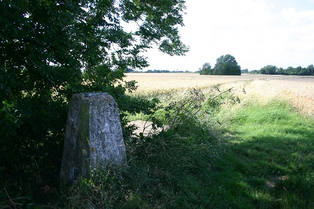 Trig point near Nowton