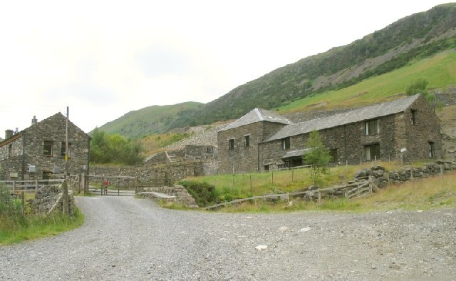 Buildings at former Glenridding mine