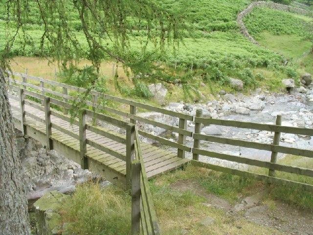 Footbridge over Glenridding Beck near Sheffield Pike
