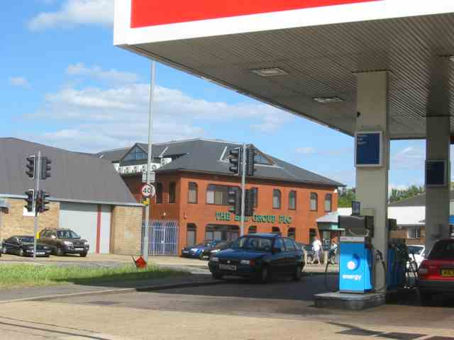 Petrol Station with offices in the view , New Denham