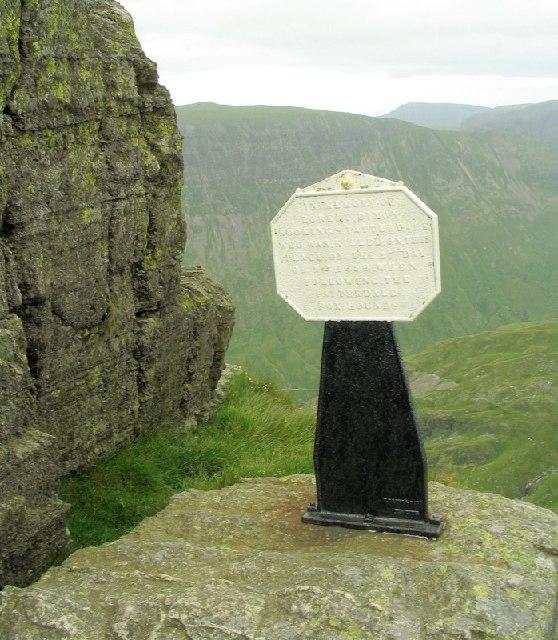Monument on Striding Edge