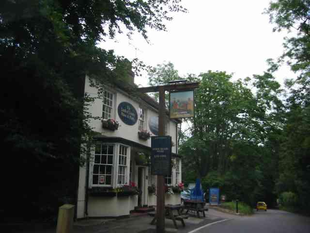 """Pub with a strange name """"Land of Liberty, Peace and Plenty"""" Chorleywood."""