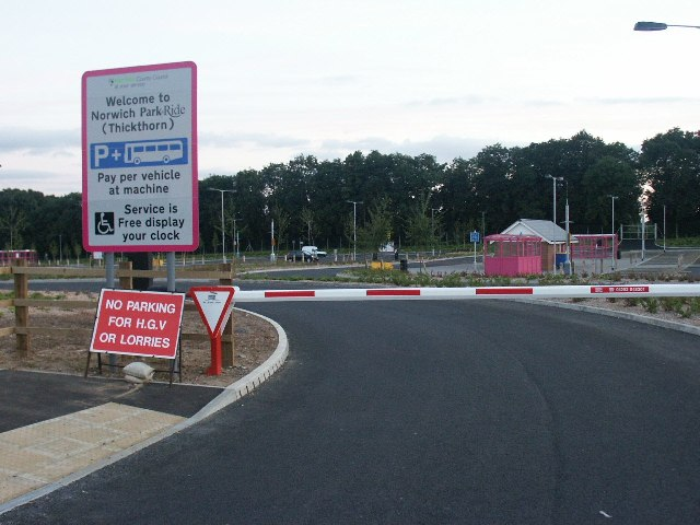 Thickthorn Park and Ride, Norwich