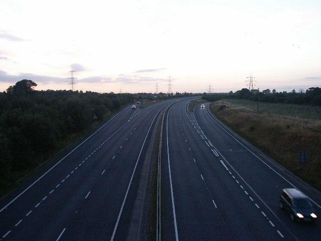 Thickthorn interchange, Norwich