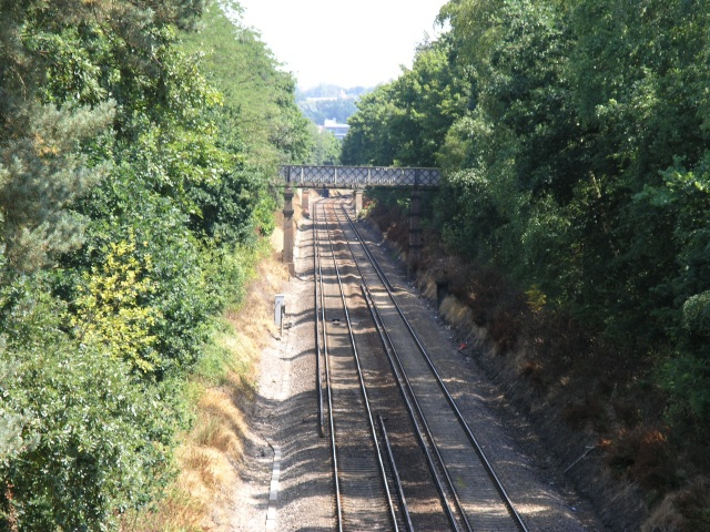 View off Railway Bridge in Reigate