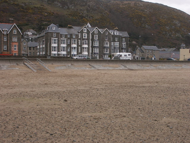 Part of the seafront at Barmouth