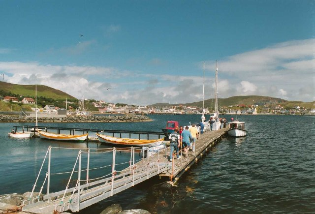 Scalloway from the Scalloway Boat Club jetty