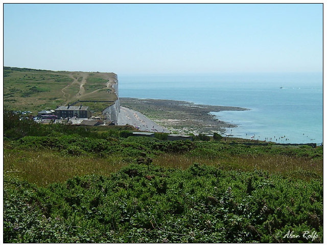 Heading east off the Seven Sisters into Birling Gap