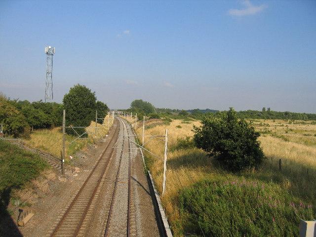 West Coast main line at Brandon