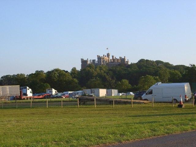 Evening sunshine … Belvoir Castle, North side.